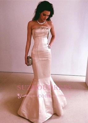 Mermaid Glamorous Strapless Floor-Length Long Evening Dress_1