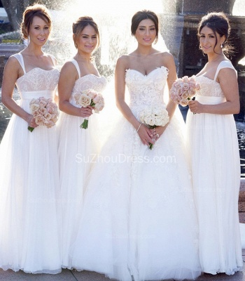Timeless Bridal Dresses Sweetheart Appliques Flowers Ruffles Tulle Court Train Wedding Gowns_4
