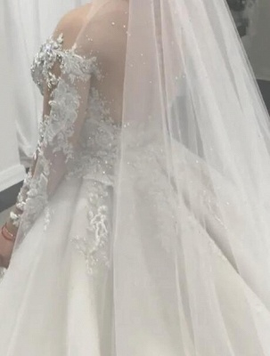 Alluring Lace Wedding Dresses Mermaid Bridal Gowns with Tulle Overskirt Online_4