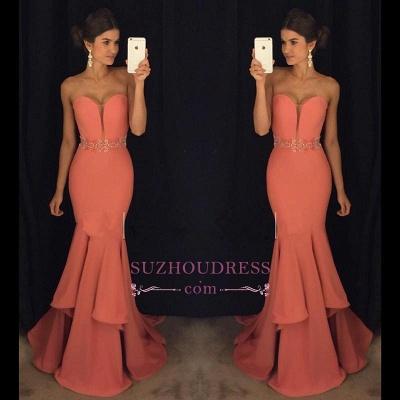 Sweetheart Mermaid Glamorous Beadings Ruffles Evening Dress GA093 BA4428_1