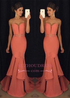 Sweetheart Mermaid Glamorous Beadings Ruffles Evening Dress GA093 BA4428_2