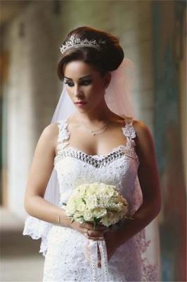 Elegant Lace Beaded Wedding Dresses  Mermaid Sheer Tulle Bride Dress WE0010_4