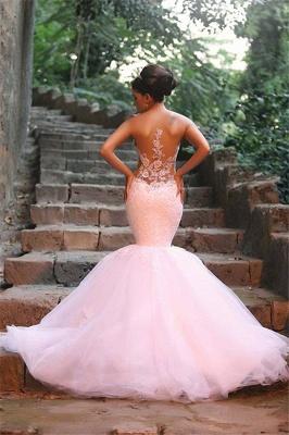 Elegant Lace Beaded Wedding Dresses  Mermaid Sheer Tulle Bride Dress WE0010_7