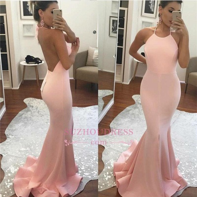Amazing Sleeveless Mermaid Summer Party Gown Halter Backless  Prom Dress BA6119_1