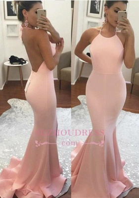 Amazing Sleeveless Mermaid Summer Party Gown Halter Backless  Prom Dress BA6119_3