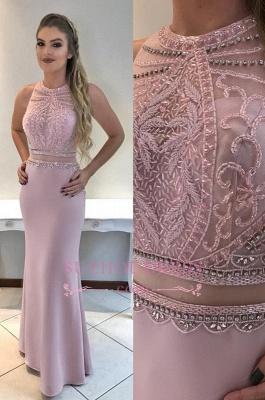Sleeveless Mermaid Prom Dress | Beadings Open Back Evening Dresses_3