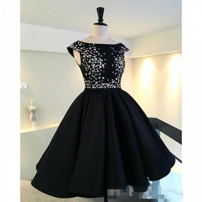 Classic Black Evening Dresses  Silver Sequins Hi-lo  Prom Gowns BA3510_3