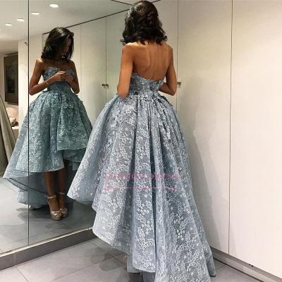 High-Low Strapless Chic Ball-Gown Sleeveless Modern Evening Dress_1