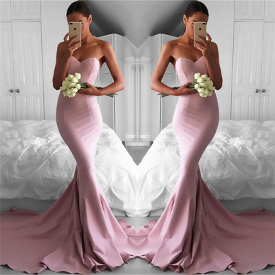 Sexy Sweetheart Pink Evening Dresses  |  Mermaid Long Formal Dresses for Party_3