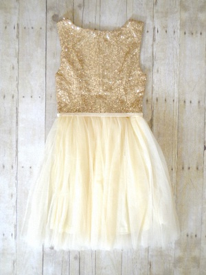 Sparkling Sequined Tulle Homecoming Dress  Cute Short Bridesmaid Dress_2