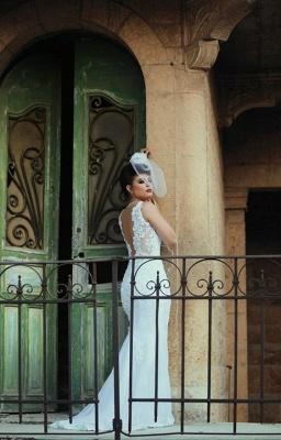 Spaghetti Strap White Sexy Mermaid Bridal Gown  New Arrival Lace Detachable Train Wedding Dress_5