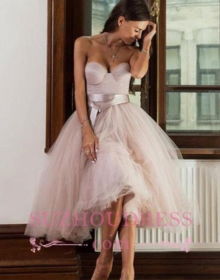 Ankle Length Sweetheart Sashes Evening Dresses  Tulle Pretty  Formal Dress_3