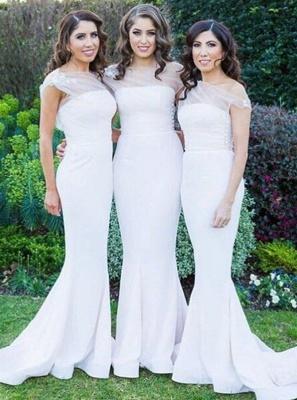 Elegant Sheath One Shoulder Bridesmaid Dresses |  Simple Appliques Wedding Party Dresses_3
