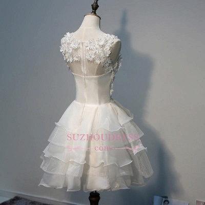 Elegant Sleeveless Ruffles Flowers A-Line Homecoming Dress with Beadings_4