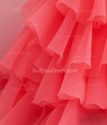 Charming Sweetheart Quinceanera Dresses  Tiered Flowers Party Dresses with Beadings_3