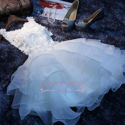Elegant Sleeveless Ruffles Flowers A-Line Homecoming Dress with Beadings_1