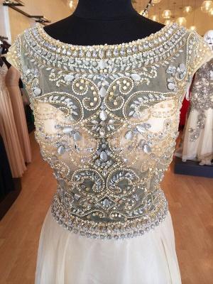 A-Line Crystal Chiffon Prom Dress Open Back Beading Zipper Evening Gown_3