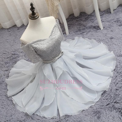 Short A-Line Lace Off-the-Shoulder Bowknot Homecoming Dress_1