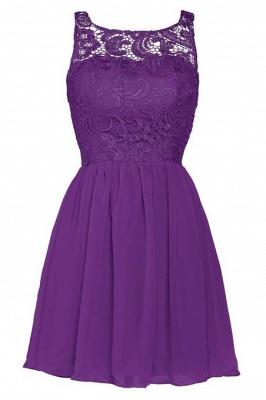 New A-line Chiffon Lace Zipper Short Homecoming Dress_14