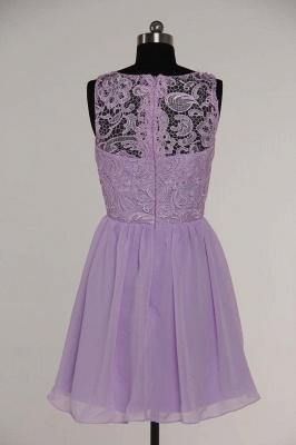 New A-line Chiffon Lace Zipper Short Homecoming Dress_15