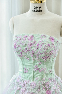 Cute Strapless Flower Mini Homecoming Dress New Arrival Lace Organza Short Cocktail Dress_3