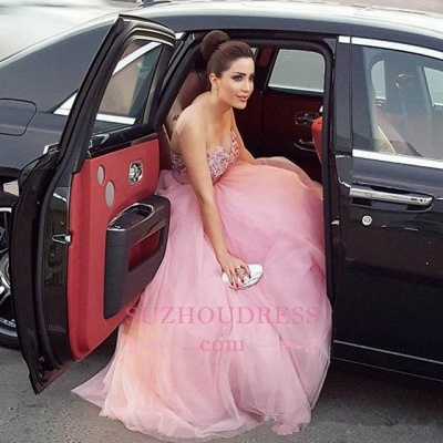 Fairy Beadings Tulle Gorgeous Long Sweetheart Prom Dress_4