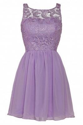 New A-line Chiffon Lace Zipper Short Homecoming Dress_9