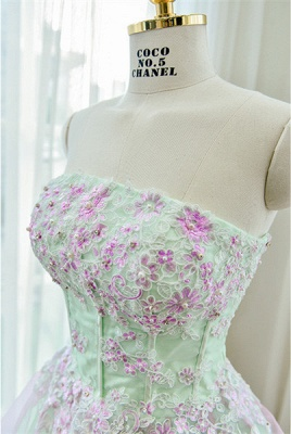 Cute Strapless Flower Mini Homecoming Dress New Arrival Lace Organza Short Cocktail Dress_4
