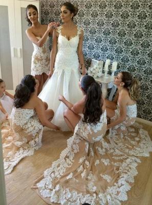 Lace Hi-lo  Bridesmaid Dresses Sweetheart Sexy  Prom Dresses_2