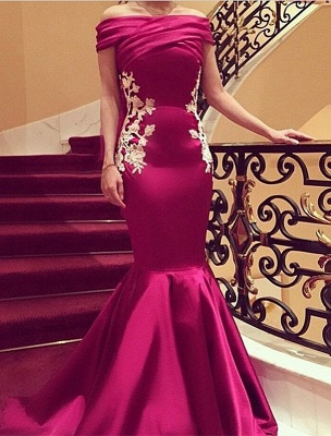 Strapless Mermaid Lace Applique Evening Gown Latest Custom Made Party Dress_1