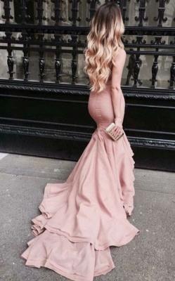 Latest Mermaid Sweep Train Prom Dress Gorgeous Taffeta Celebrity Formal Occasion Dress_1