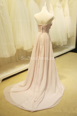 A Line Designer Chiffon Long Crystal Prom Dresses Simple Formal Inexpensive Ruffle Dresses for Junior_2