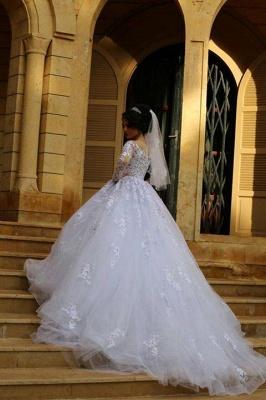 Gorgeous Long Sleeve Lace Princess Dress A-Line Tulle  Wedding Dress WE0011_3