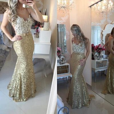 Sexy Mermaid Lace Beadings Evening Dress Latest Floor Length Trumpet Prom Dress BA4767_3