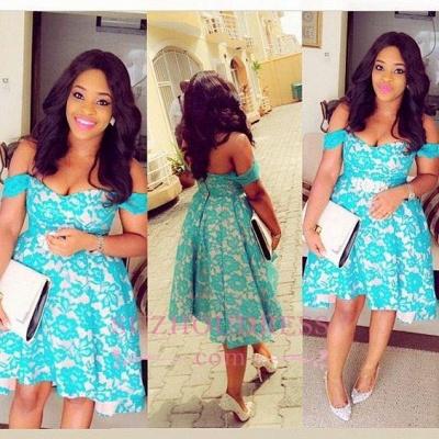 Lace  Elegant Hi-Lo Off-the-Shoulder Homecomig Dress_1