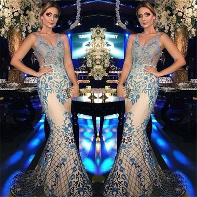 Sexy Mermaid Beads Appliques Evening Dresses  | Gorgeous Sleeveless Mermaid Prom Dresses_3