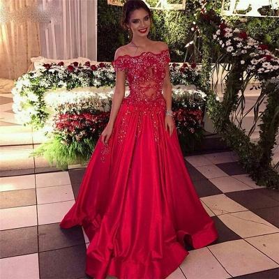 Off The Shoulder Beads Sequins  Formal Evening Dresses  Popular Prom Dress_3