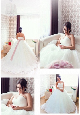 New Arrival Sweetheart Ball Gown Bridal Gown Latest Tulle Lace-Up Plus Size Wedding Dress_2