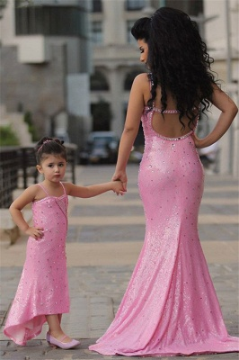 Pretty Pink Crystal Flower Girl Dresses    Open Back Pageant Dress with Detachbale Skirt_5