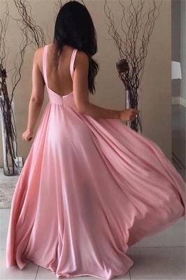 Sexy Pink Chiffon Formal Dresses | Open Back Sleeveless  Evening Dress_3