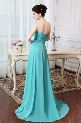 A-Line Crystal Sweetheart Chiffon Long Evening Dress with Rhinestones Popular Lace-up Empire Prom Dress_2