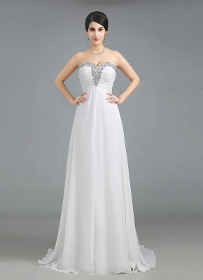 A-Line Crystal Sweetheart Chiffon Long Evening Dress with Rhinestones Popular Lace-up Empire Prom Dress_4