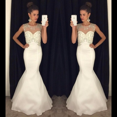 Gorgeous Halter Mermaid  Prom Dress Open Back Custom Made Evening Gown_3