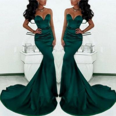 Simple Green Sweetheart Mermaid Evening Dress  Custom Made Formal Party Dresses_2