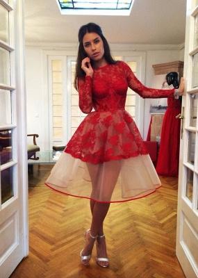 Flattering Long Sleeves Homecoming Dresses | Jewel Lace Short Cocktail Dresses | Suzhoudress UK_1