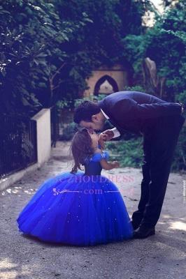 Floor Length Royal Blue Lovely Girls Pageant Dresses  Tulle Off-the-Shoulder Flower Girl Dresss BA3927_1