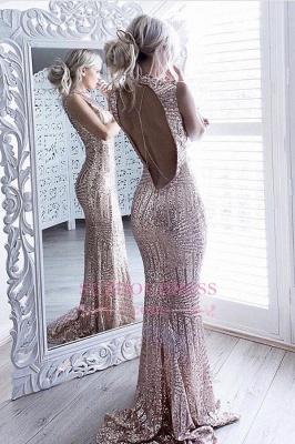 Sequins Sparkling Sheath  Formal Dress Sexy Open-Back Sleeveless High Neck Prom Dress JJ0158_1