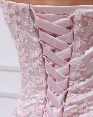Pink Quinceanera Dresses  Sweetheart Sleeveless Appliques Tiered Ball Gown Floor Length Lace-up Gorgeous Prom Dress_4