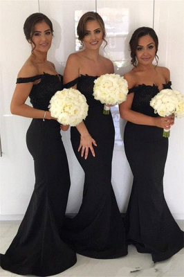 New Cheap Maid of Honor Dresses | Off-the-Shoulder Sexy Bridesmaids Dresses_1